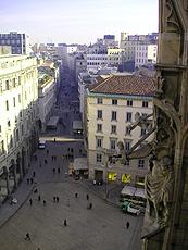 イタリアのミラノの街並み